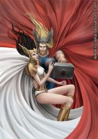 Thor and Sif by Irulana