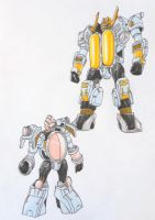 SUPER ZEO MEGAZORD revisited: yellow and pink by kishiaku