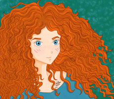 Merida - Brave (2nd work) by GiuliaIulia