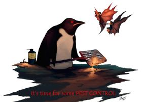 Pest Control Penguin by cmalidore