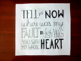 Mumford and Sons - White Blank Page by Arianeavieira