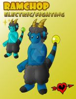 Ramchop - Electric Fighting Fakemon by JamalPokemon