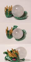 Gold and Green Dragon (Mini) Sphere Holder by KingMelissa