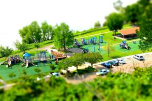 Tilt Shift Playground by Rebelmoon