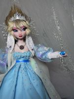 Disney frozen Evil Villain Elsa OOAK doll For SALE by DanielMinaev