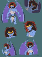 Demona Sketchdump by Kordyne