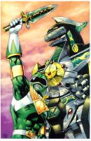 Green Ranger and Dragonzord by sonicfan1987