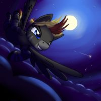 Midnight Freeflying by sketchatory