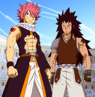 Fairy Tail's Dragon Slayer Duo by KagomeChan27