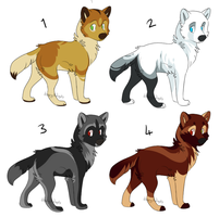 Wolf Pups 2 [CLOSED] by dizzyAdopts