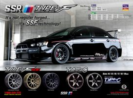 SSR Type-F Ad - Evo X by dkim1985