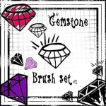 Scene Gemstome Brush Set by Red--Roses