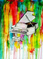 Rainbow Piano by Ebrius-ART