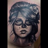 Day Of The Dead Girl Tattoo by Jessy Knuckles by PinzandNeedlezstudio