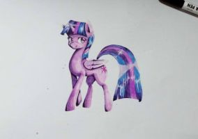 Twilight Sparkle(Marker Pen) by MikeDom