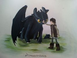 Toothless And Hiccup....Nearly by PossumPip-Creations