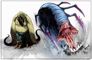 Dibari creatures by SpicerColor