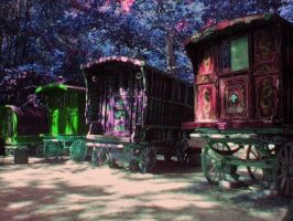 Mystical Gypsy Caravans by JussettaSnake
