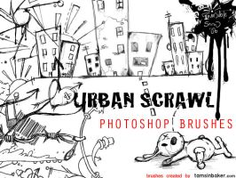 Urban Scrawl Photoshop Brushes by InvisibleSnow