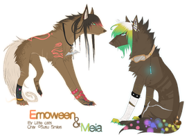 Emoween and Meia by Little-cats