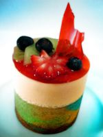Mini Apple Cranberry Mousse by Sliceofcake