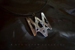 Watch Dogs logo necklace by AnyShapeNecklaces