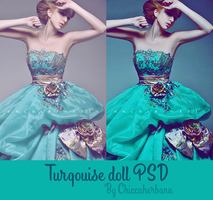 Turqoise doll PSD by chiccaherbana