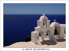 a scene of santorini by kyokosphotos