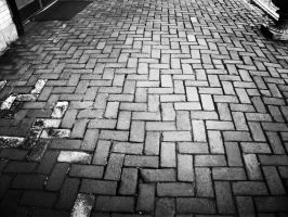 Brick Path (Black And White) by MissDevotion