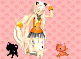 SeeU with her Kittehs by leonlivelks