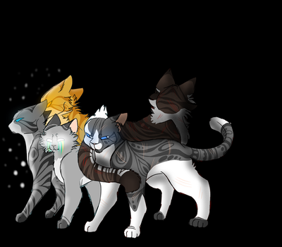 Ivypool, Hawkfrost and the Three by Harryfly