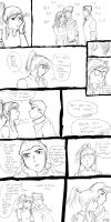 Korra and Mako comic by Kcie-Aiko