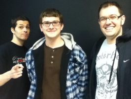 Me with Mike Matei and James Rolfe by Byo2010