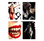 Vampirella Booklet Jam Cards by Dr-Horrible