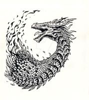 Dragon Tattoo Design by FoolishLittleMortal