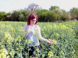 In The Rapeseedfields by oOMadCatOo