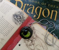 Toothless Eye Pendant (for sell on Etsy) by cheese-cake-panda