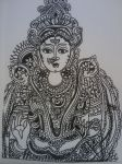 Kalamkari Goddess by jayainthesky