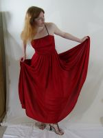 Long Red Dress 2 by chamberstock