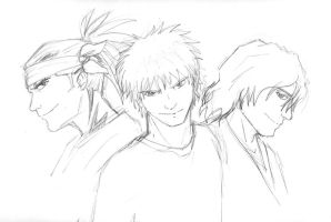 Bleach Trio by CarnivorousCaribou
