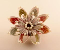 Artisan Paper Flower Hair Clip by SmexySarah