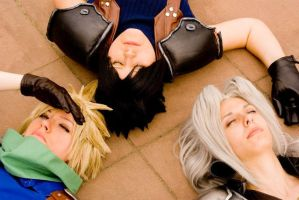Cloud,Zack,Sephiroth- sun by Maryru