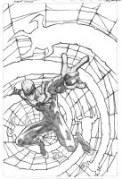 Superior Spider-man print pencils by JoeyVazquez
