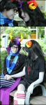 Eridan x Aradia: y0u light up my ww0rld by BlackRoseMikage