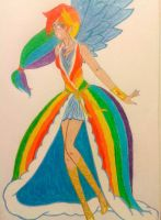 Human Rainbow Dash- Olympian Gala Gown by gaea-earthgoddess