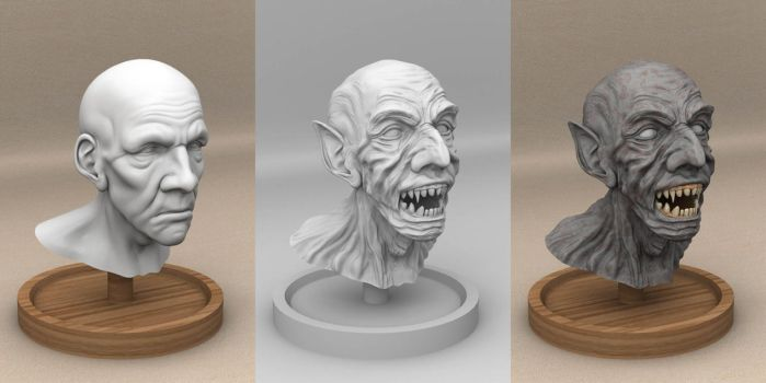 Vampire Bust WIP by TransElf