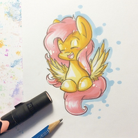 Flutters doodle by y0wai