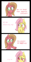 Flutterbat and Pun by Sintakhra