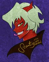 Scanty for halloween by polkadotbeetle