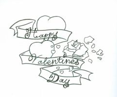 Valentine outline by experiment48602